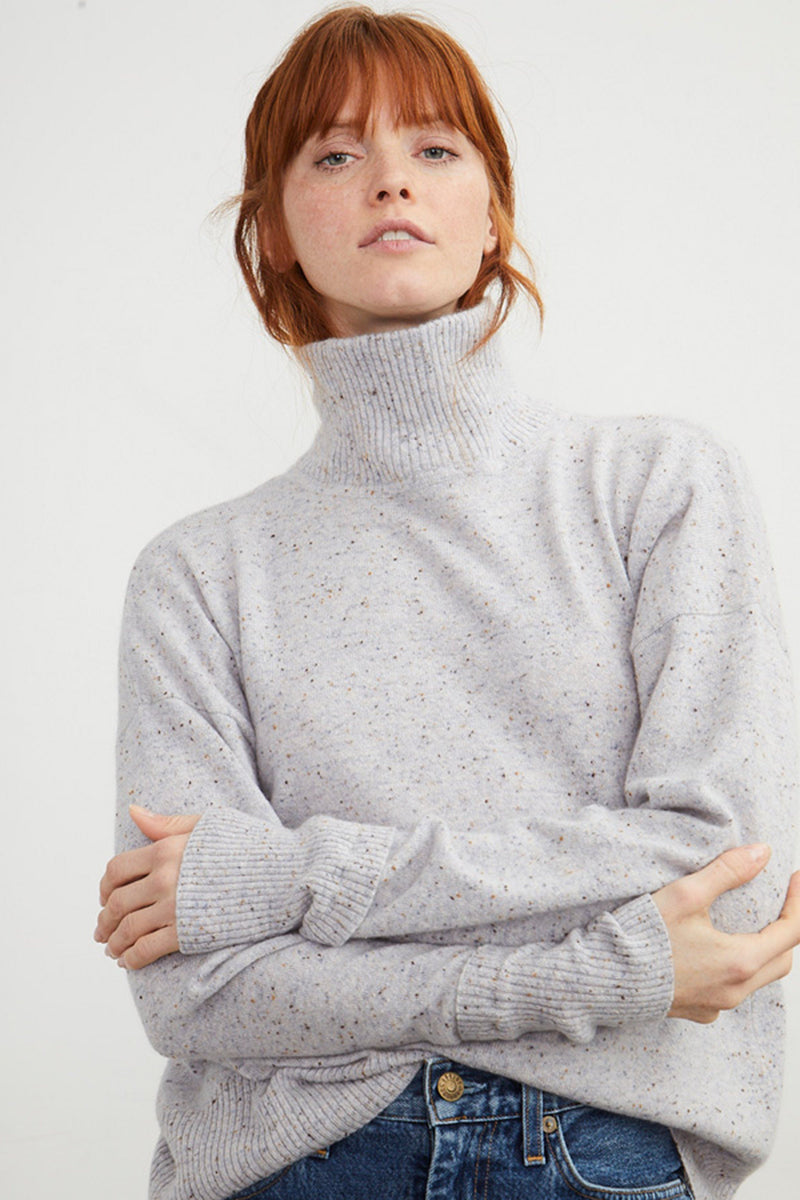 AUTUMN CASHMERE | Mock Neck Turtleneck - Cinder