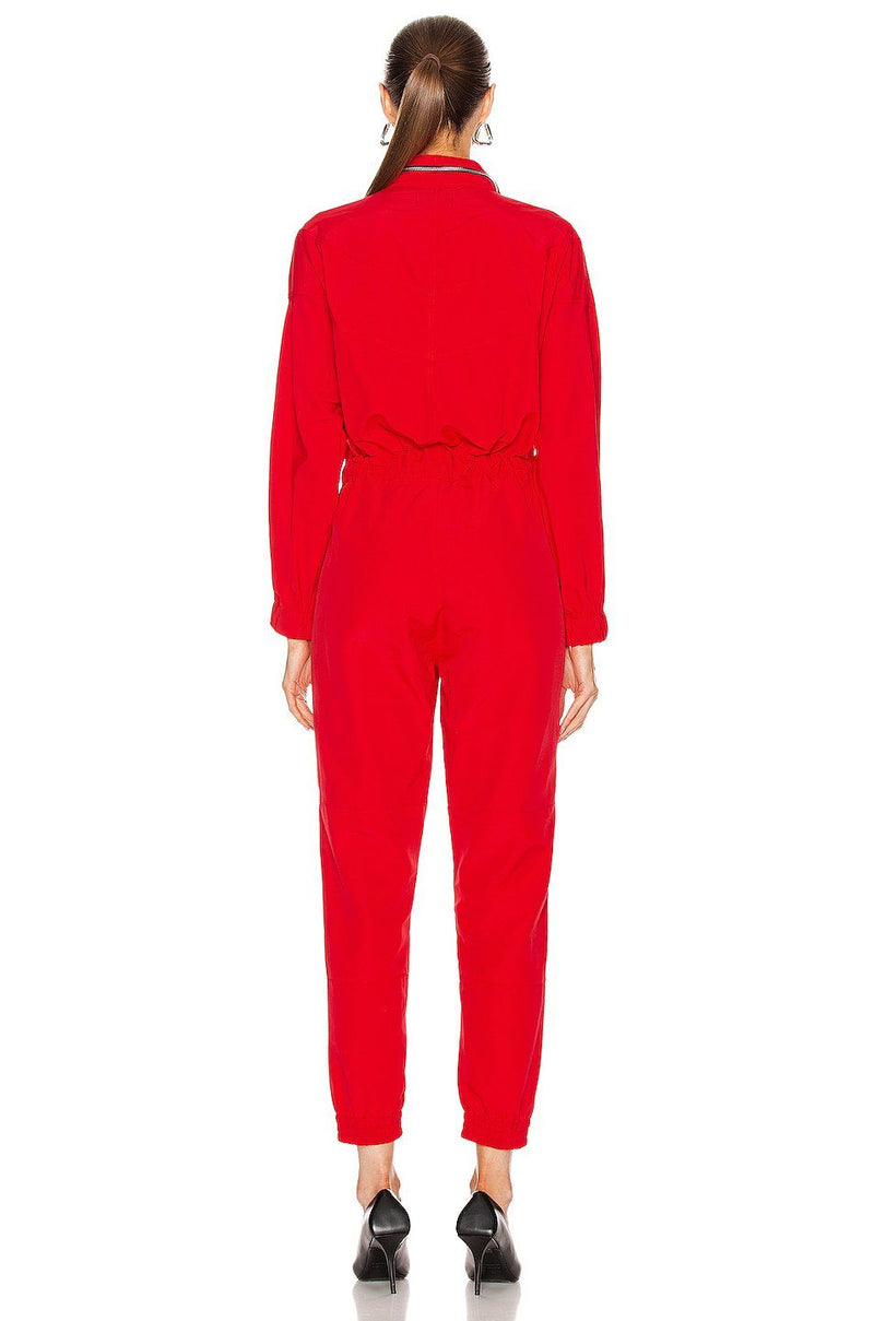 RTA | Halima Jumpsuit - Track Red