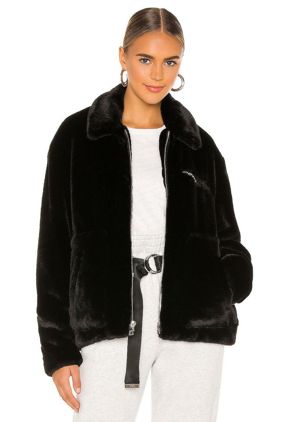 RTA | Reese Faux Fur Jacket - Black