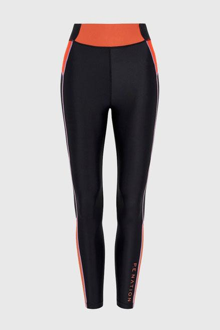 P.E NATION | Final Leap Legging - Black + Coral