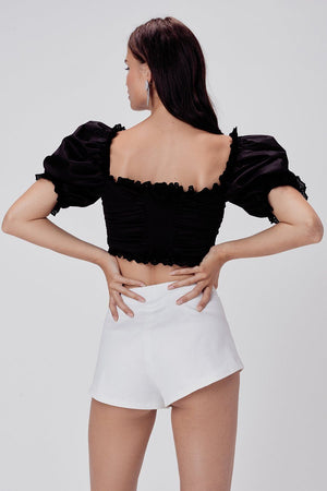FOR LOVE & LEMONS | Dillon Hot Shorts - White Western