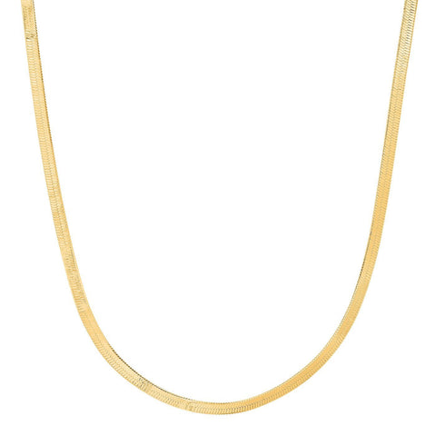 TAI | Thin Herringbone Chain Necklace