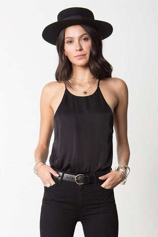 STILLWATER | High Neck Cami - Black