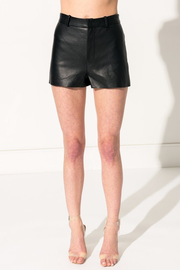 LAMARQUE | Garnet Leather Shorts