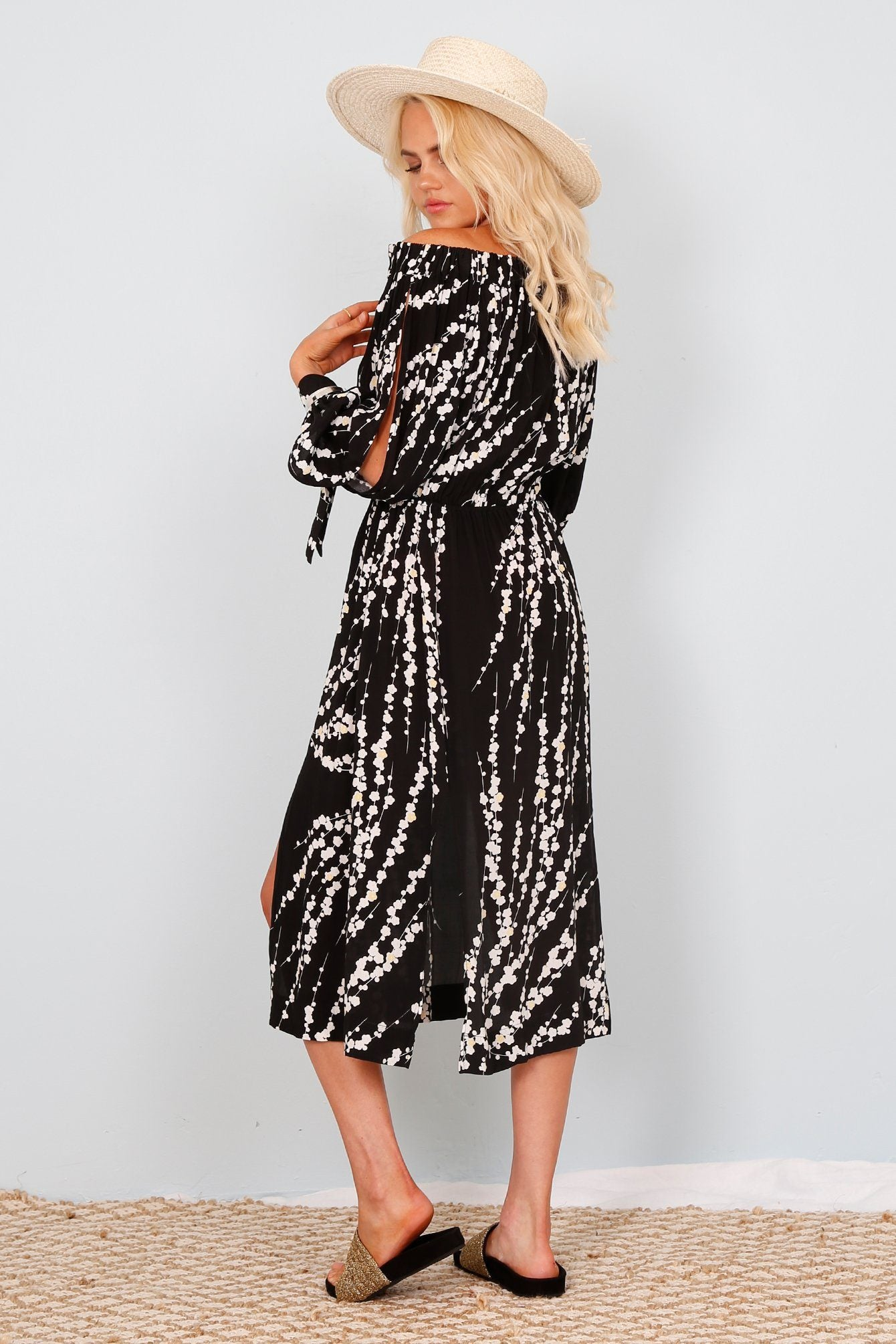 SWF | Wynona Blossom Dress - Black