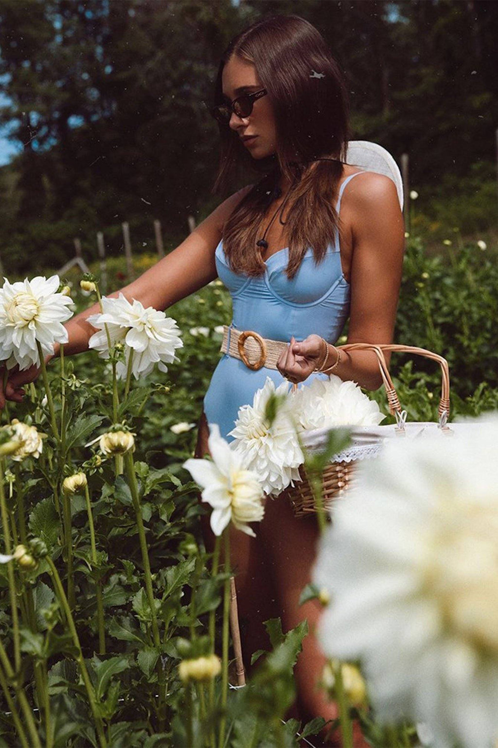 WE WORE WHAT | Danielle One Piece - Powder Blue