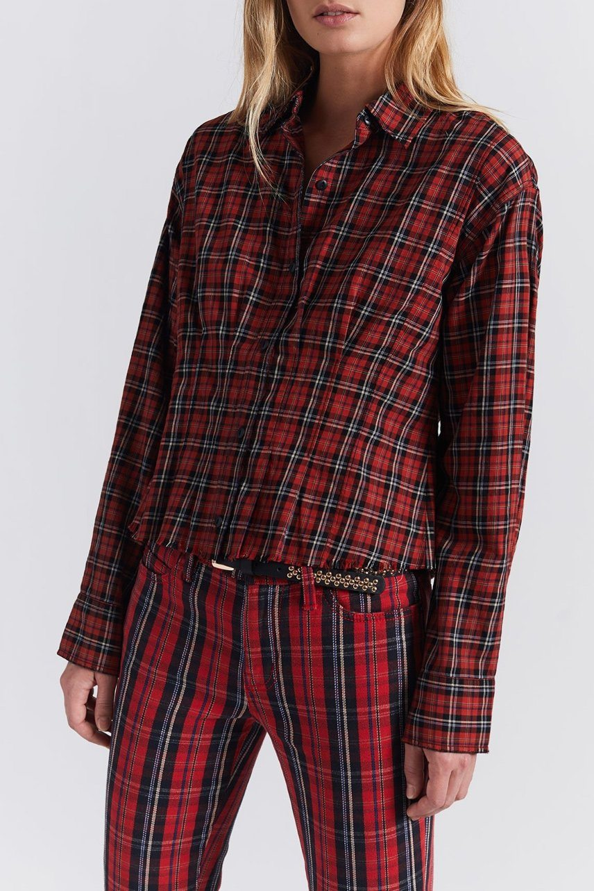 CURRENT/ELLIOTT | Tella Shirt - Red Tartan Plaid