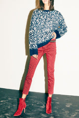 CURRENT/ELLIOTT | Cali Sweater - Brushed Leopard