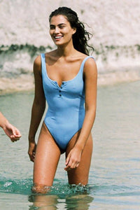 L*SPACE | Float On One Piece - Peri Blue