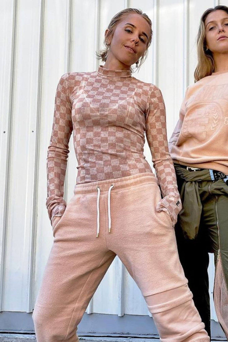 P.E NATION | Block Action Knit - Nude Top
