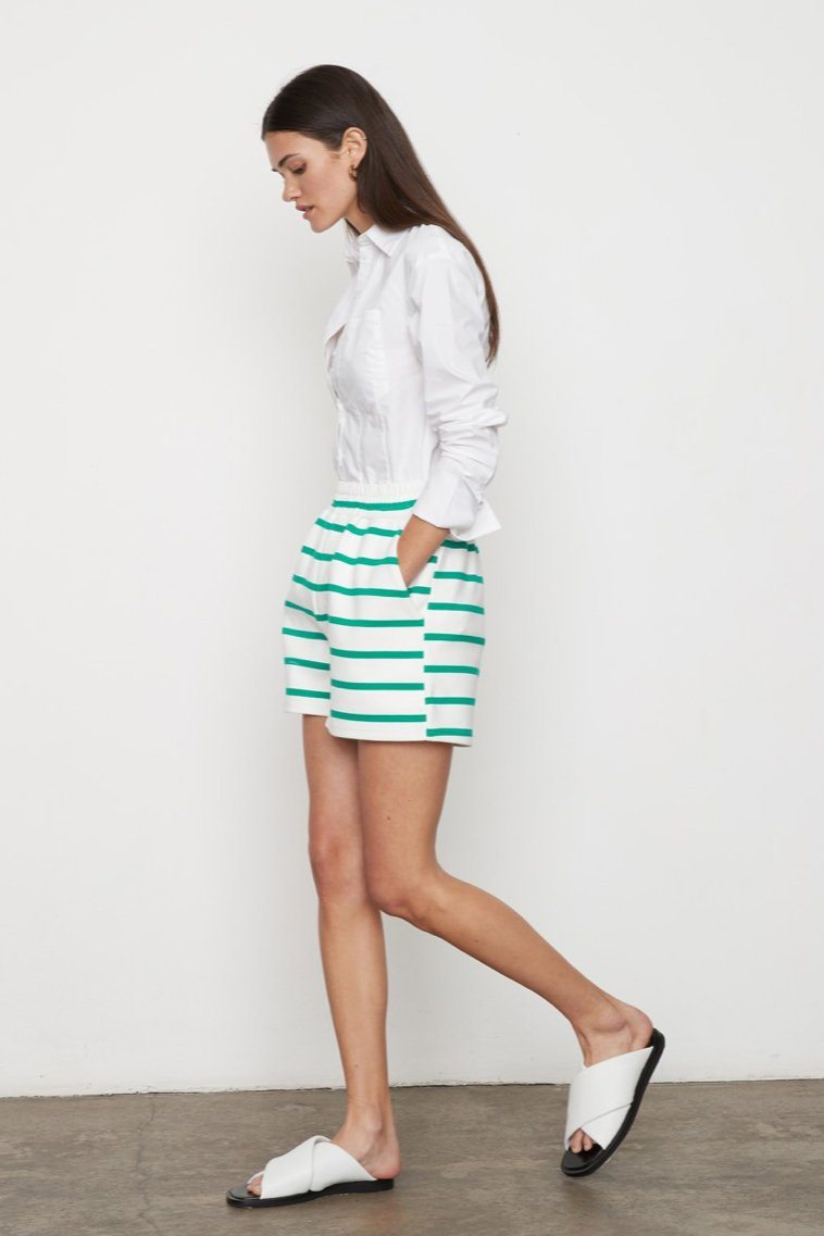 ATOIR | Base Runner Shorts - White/ Kelly