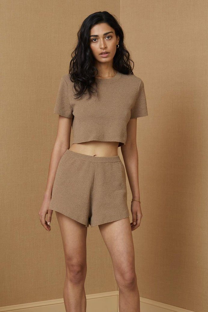 BEC + BRIDGE | Fifi Knit Shorts - Taupe