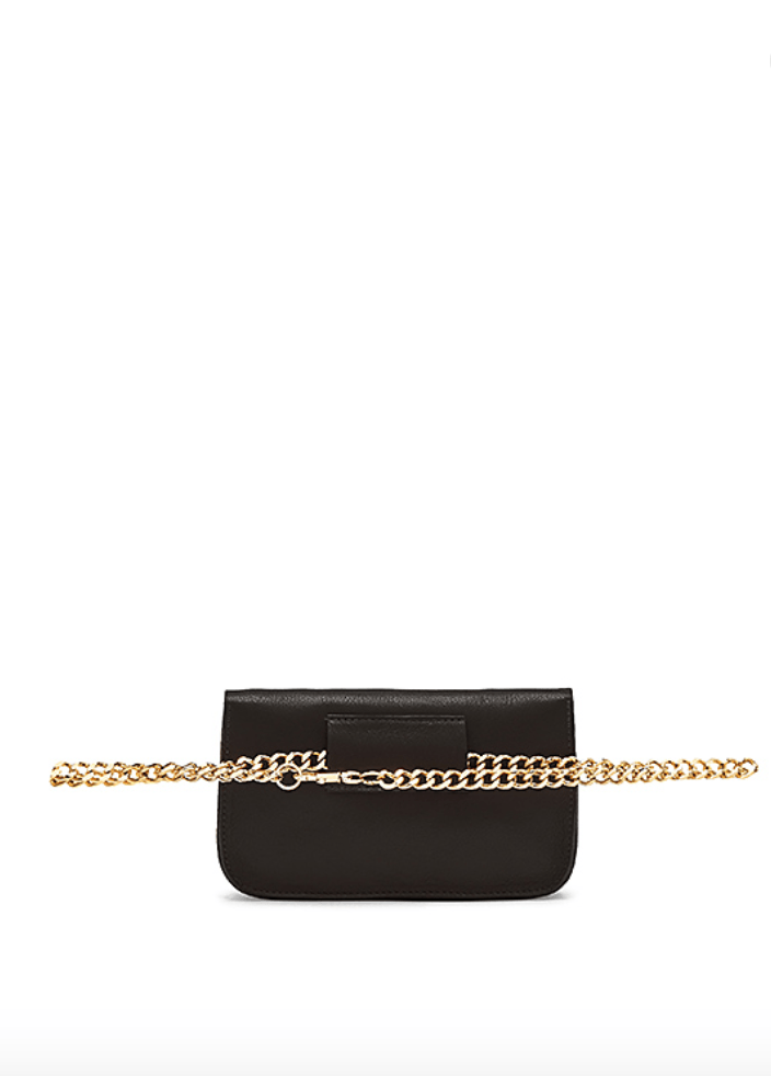 B-LOW THE BELT | Gia Chain Belt Bag - Black or Red