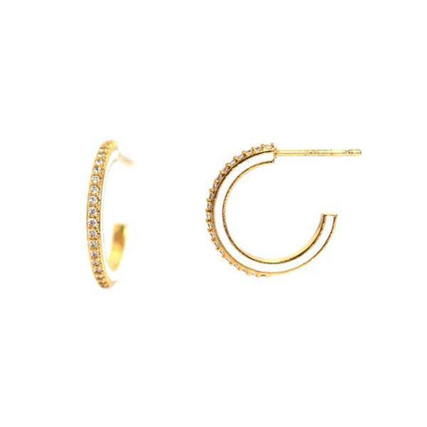 TAI | Pave Enamel Hoops - White or Black