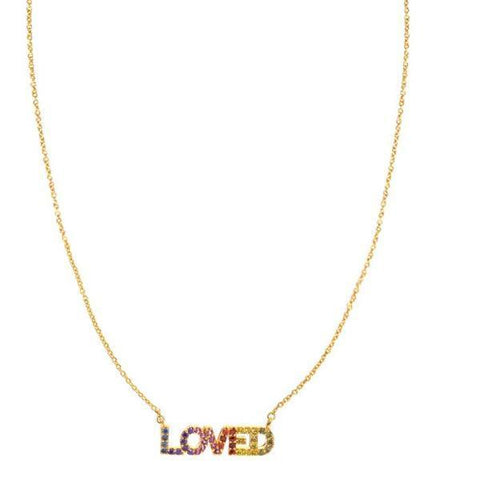 "TAI | ""Loved"" CZ Necklace"