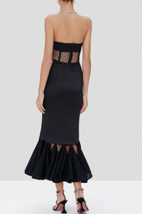 ALEXIS | Verbena Midi Dress - Black