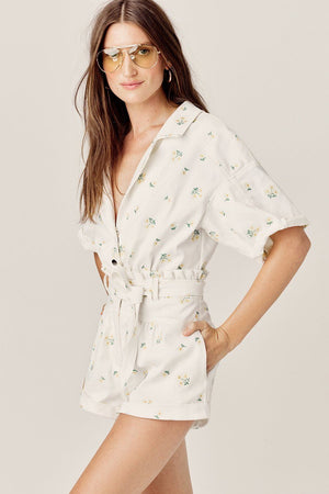 FOR LOVE & LEMONS | Waverly Romper - Daisy Daisy