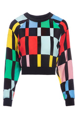 ALICE + OLIVIA | Calvin Color Block Crop Sweatshirt