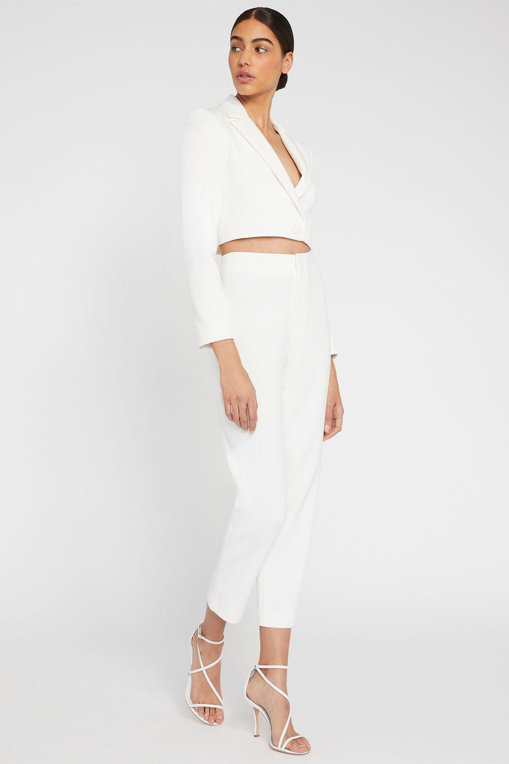 ALICE + OLIVIA | Lorinda Super HW Crop Pant - Off White