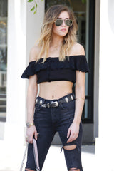 AMUSE SOCIETY | Front Row Top - Black