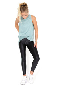 KORAL | Chase High Rise Infinity Legging - Black/Aquamarine
