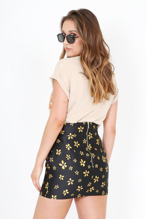 BEC & BRIDGE | L'Avenue Skirt - Black + Yellow