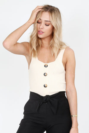 LINE + DOT | Janne Sweater Tank - Natural