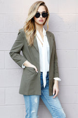 SCARLET | Perfect Blazer in Army - Scarlet Clothing  - 1