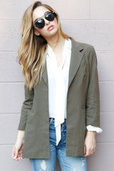 SCARLET | Perfect Blazer in Army - Scarlet Clothing  - 5