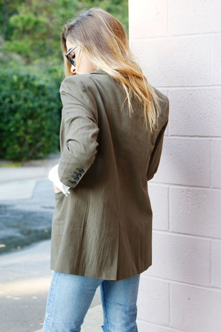 SCARLET | Perfect Blazer in Army