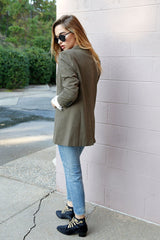 SCARLET | Perfect Blazer in Army - Scarlet Clothing  - 3