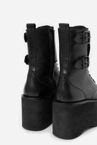 THE KOOPLES |  Sky High Platform Leather Boots - Black