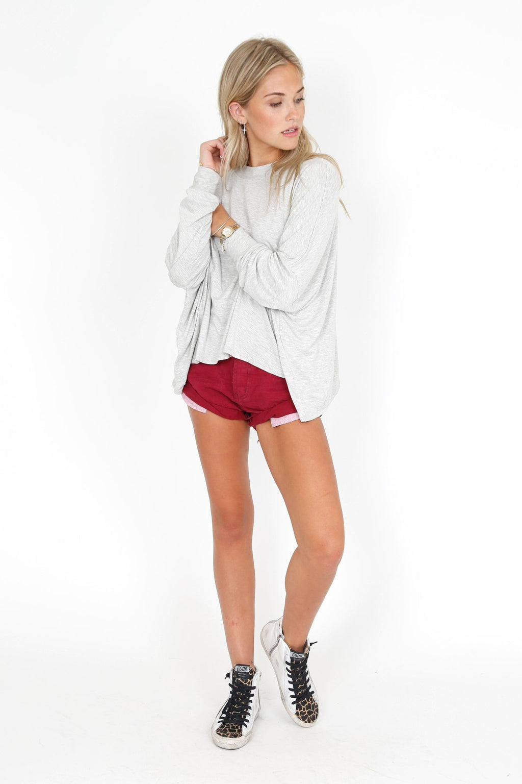 ONE TEASPOON | Bandit Denim Short - Bordeaux