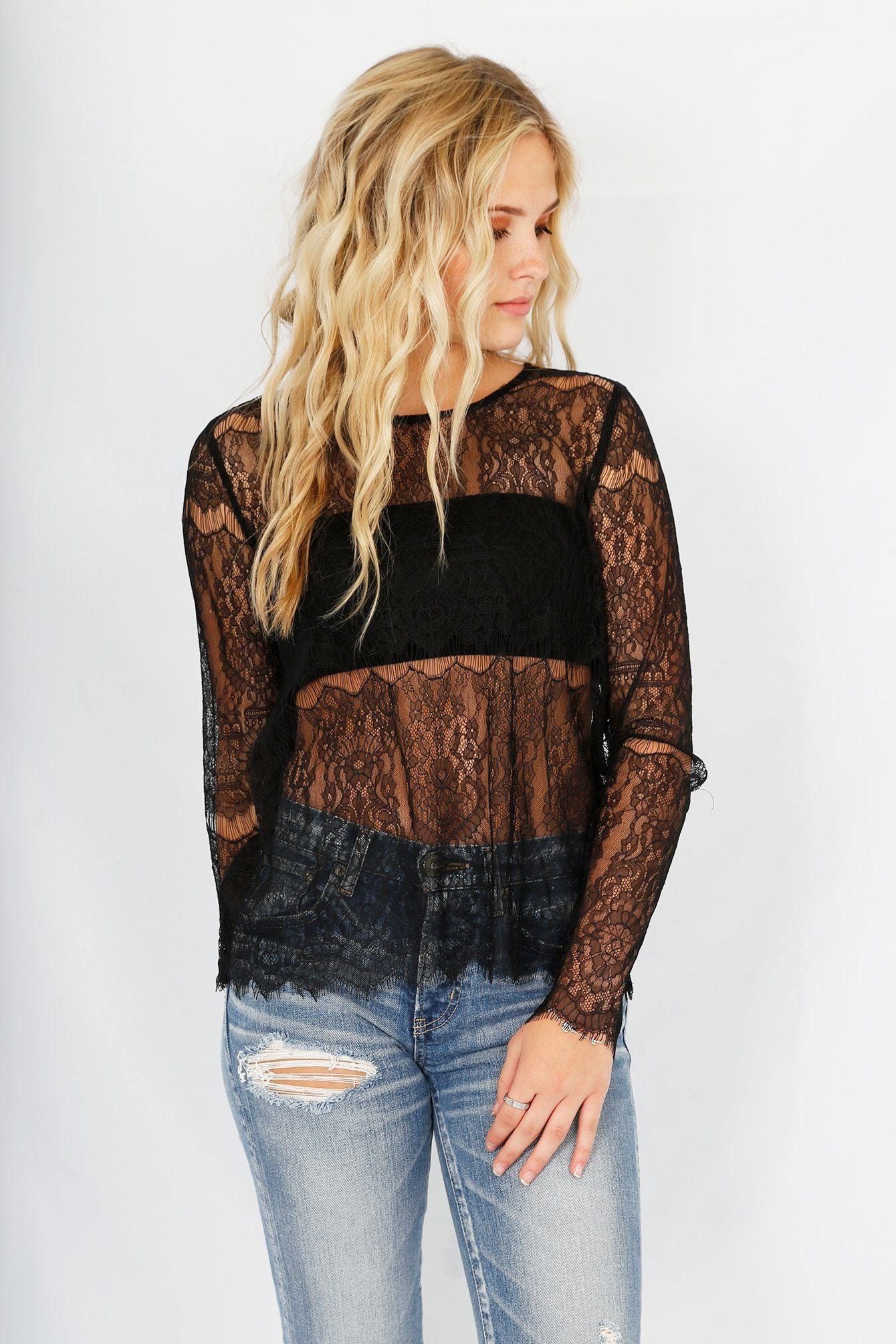 CAMI NYC | Asher Lace Top - Black