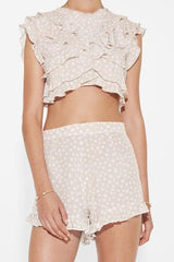 SIR | Valentina Ruffle Short - Polka Dot