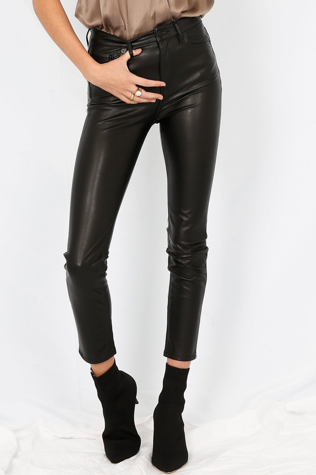 THE KOOPLES | Franky Fancy Leather Trousers - Black