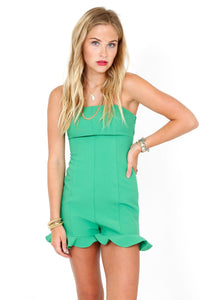 LIKELY | Delia Romper - Emerald