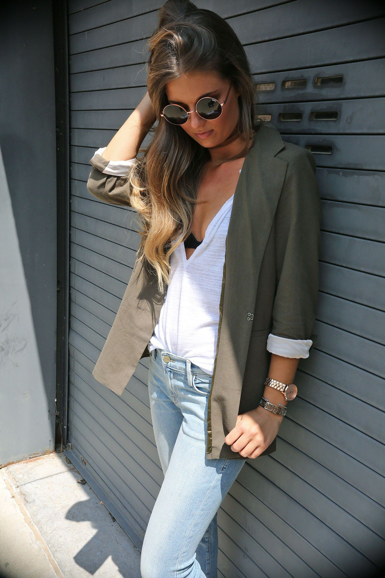 SCARLET | Perfect Blazer in Army - Scarlet Clothing  - 6