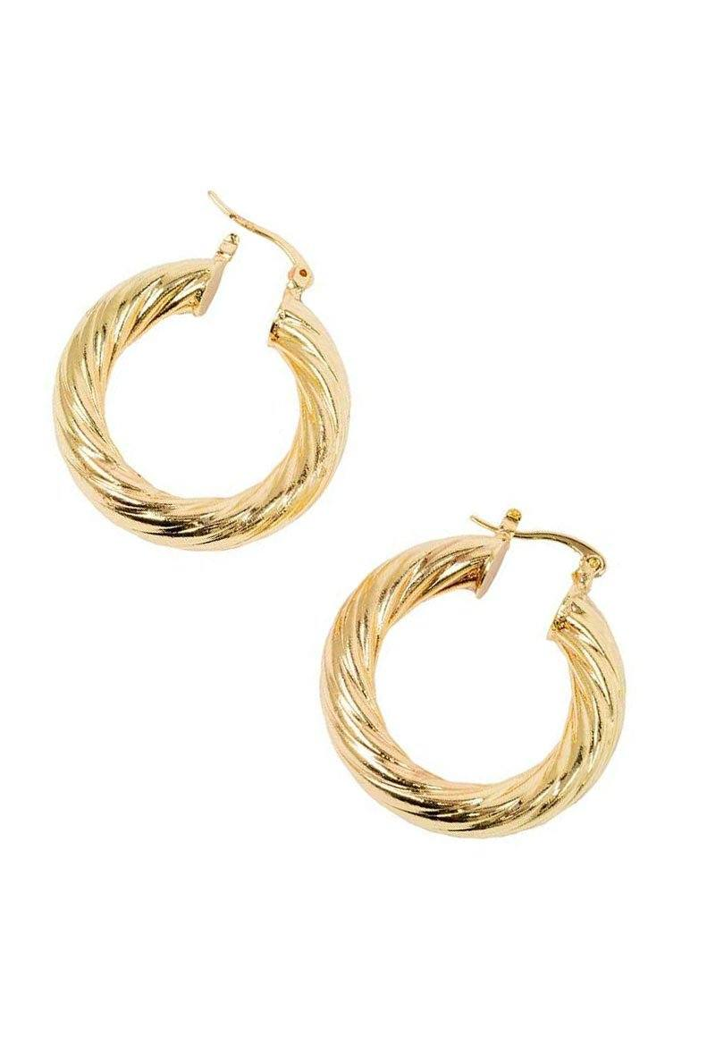 BRACHA | Twisted Gold Hoops