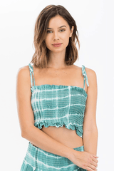 No Need to Ruche Tank Tie Dye - Green
