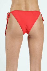 Back to Basic Tie Bikini Bottom - Red