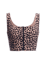 Wild Ride Leopard Bustier Crop - Blush