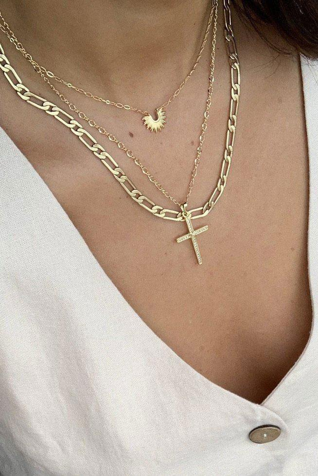 BRACHA | Bossy Link Chain Necklace - Gold