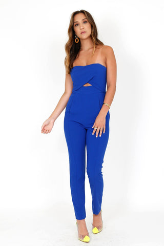 BLACK HALO | Jada Jumpsuit - Shoreline Blue