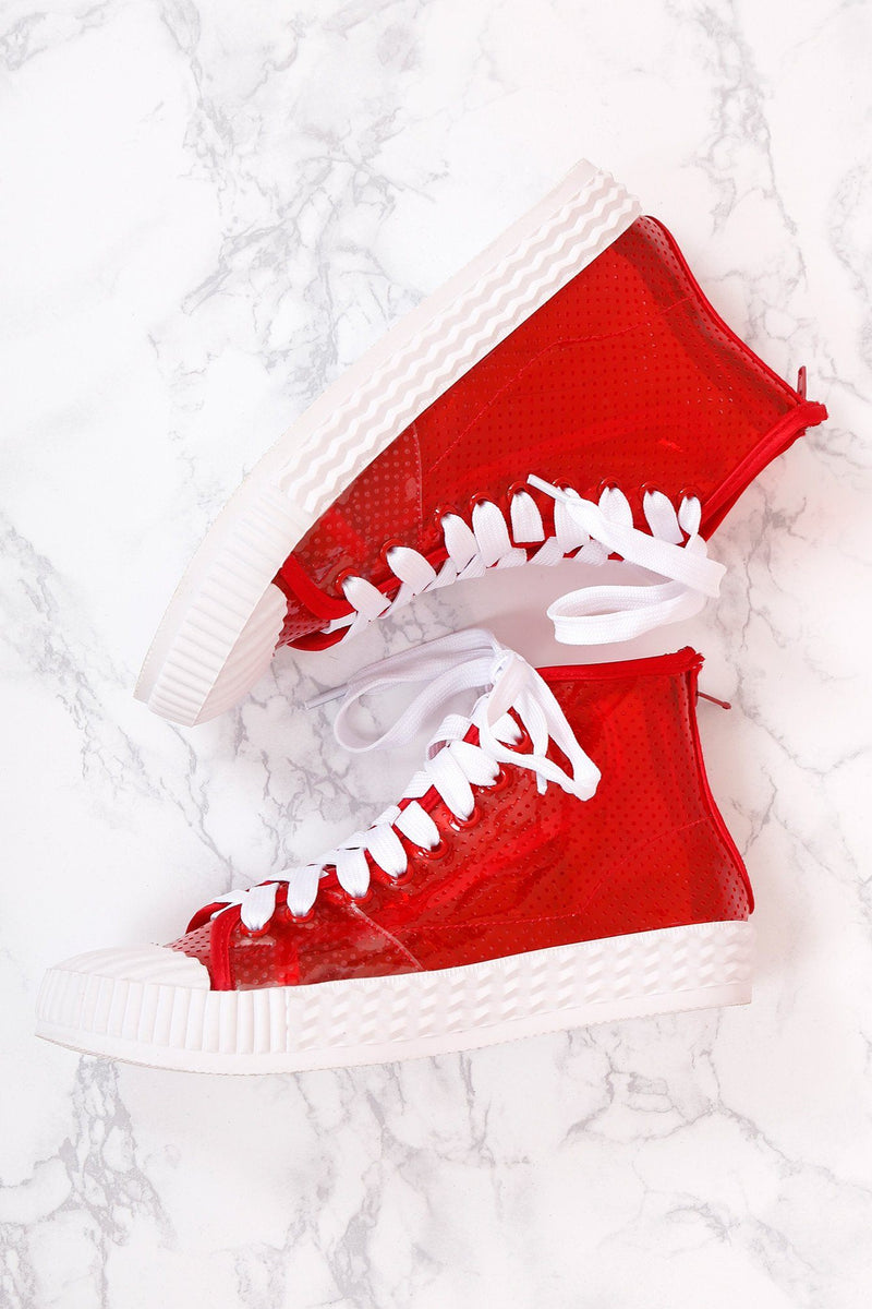 JEFFREY CAMPBELL | Ganador Sneakers - Red Vinyl
