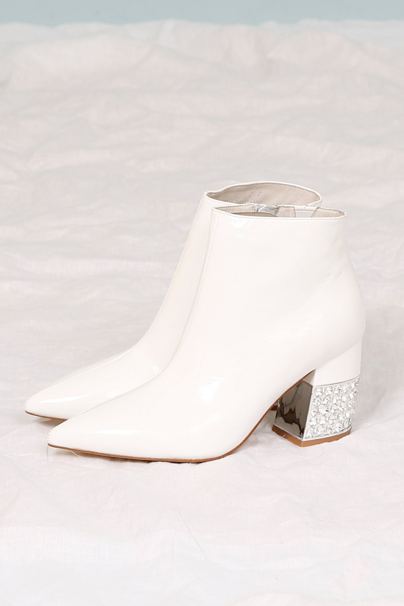 JEFFREY CAMPBELL | Final Patent Bootie - White