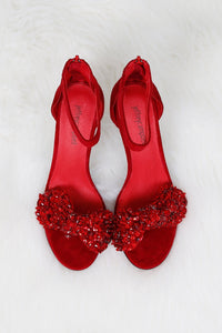 JEFFREY CAMPBELL | Jasmyn Bow Heel - Red