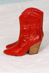 JEFFREY CAMPBELL | Midpark Western Boot - Red
