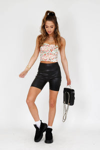 LAMARQUE | Leather Bike Shorts - Black