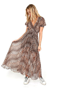 BEC & BRIDGE | Kitty Kat Midi Dress - Leopard